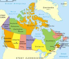 canada administrative map large size