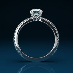 LOVELY RING - $3,882.00  Round Cut Diamond Engagement & Wedding Ring - 1.02 CT White G color in 18K Gold