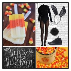 """Happy (late) Halloween!!!"" by silent-sorrow on Polyvore featuring H&M, Donna Karan, Converse and La Senza"