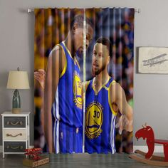 3D Printed Stephen Curry & Kevin Durant Style Custom Living Room Curta – Westbedding