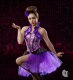 Used for production 2014 Curtain Call Costumes® - Ray Of Light Circus showgirl tap dance costume