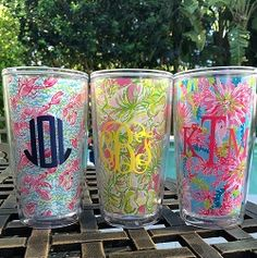 Monogrammed Lilly Pulitzer Insulated Tumblers