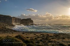Fungus Rock off Gozo Malta by IsnRi via http://ift.tt/1T1wfLQ