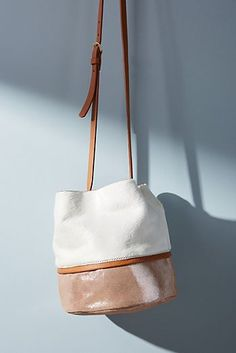 Tow-Toned Shimmer Bucket Bag