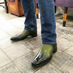 L // Model : Cs 140 Handcrafted Men's Shoes, Shoe Boots, Men Boots, Mens Boots Fashion, Fashion Shoes, Casual Shoes, Men Casual, Smart Casual, Chelsea Shoes
