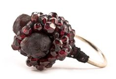 Ela Bauer Ring: Untitled, 2010 Epoxy, cotton, garnets, silver