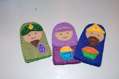 """C"" is for Crafty: Felt Finger Puppet Nativity"