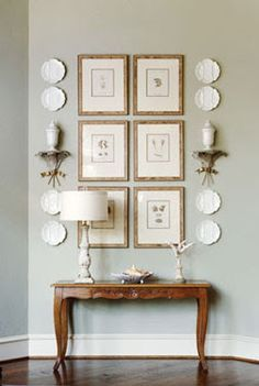 Scale down for foyer. From McMansion to French Country Cottage, entryway designed by interior designer Martha Sweezey French Country Bedrooms, French Country Cottage, Country Farmhouse Decor, French Country Style, Country Kitchens, Country Bathrooms, Rustic French, Cottage Style, Cottage Art