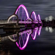 Solvesborg, un #puente fulgurante en Suecia