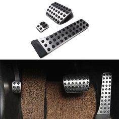 etopmia BEZ No Drill Fuel Brake Foot Pedals For Mercedes Benz C/E/S/GLK/SLK/CLS/Sl Class: Size (as the picture shown): Gas Pedal: 8 x 1 x brake Pedal : 3 x 4 x rear brake Pedal x 1 x color: Chrome + black. Mercedes Accessories, Car Accessories Gifts, Car Door Lock, Ferrari, Automotive Detailing, Led Logo, Bluetooth Car Kit, Car Key Fob, Lighting Logo