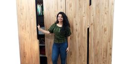 Simple wardrobe design for bedroom in Hindi I बेडरूम के लिए Modular Ward... Wardrobe Design Bedroom, Bedroom Cupboard Designs, Bedroom Cupboards, Simple Wardrobe, Modern Wardrobe, Open Shutters, Modular Wardrobes, Sliding Wardrobe, False Ceiling Design