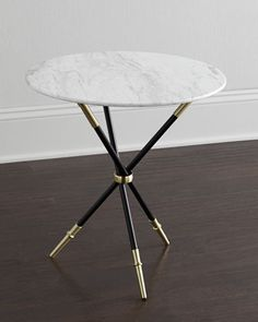 Table, adjustable height - convertible coffee dining table - Style only - Jonathan Adler Rider Tripod Table Classic Furniture, Unique Furniture, Table Furniture, Living Room Furniture, Furniture Design, Oaks Furniture, Steel Furniture, Furniture Redo, Jonathan Adler