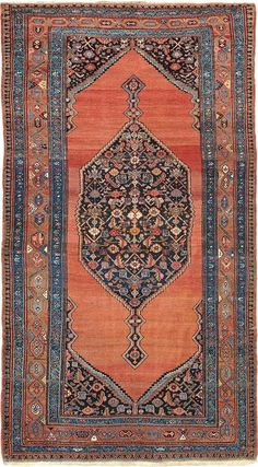 "ANTIQUE BIDJAR Origin: PERSIA Size: 6' 0"" x 10' 9"" Rug ID # 491"