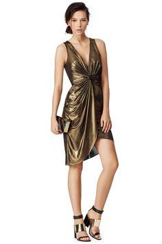Gold Studio Dress by Halston Heritage #renttherunway