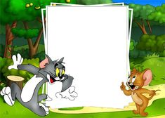 Moldura para Fotos Infantil tom e jerry