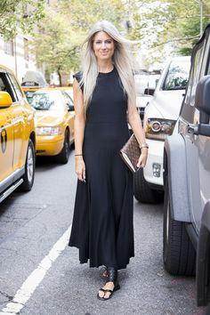 NYFW // Black dress Sarah Harris of Vogue // Louis Vuitton Desk Agenda Planner