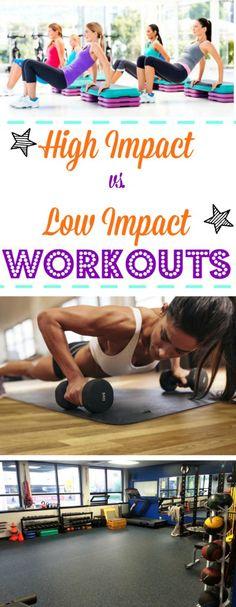 High Impact Workouts vs. Low Impact Workouts