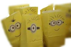 Despicable Me, Minion Favor paper bags, 12 set.