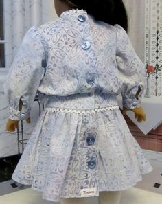 Early 1900's Style Batik Frock Made to Fit by KeepersDollyDuds