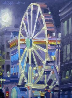Melody of Marseille Ferris Wheel, Fair Grounds, Paintings, Art, Marseille, Art Background, Paint, Painting Art, Kunst