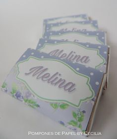 Golosinas Personalizadas Shabby Lila & Mint