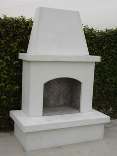 Modular Fireplace Ready to Finish with Stone or Stucco