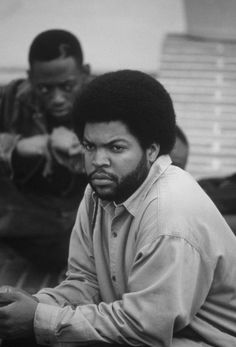 """Ice Cube and Omar Epps (in the background) in the 1995 movie """"Higher Learning"""" Directed by John Singleton Ice Cube Rapper, Omar Epps, Mode Hip Hop, Estilo Cholo, Estilo Hip Hop, Gta San Andreas, Rap Wallpaper, Afro, Higher Learning"""