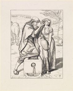 Eliezer and Rebekah at the Well by William Holman Hunt