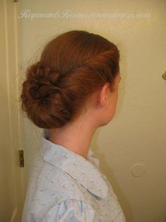 Gibson Roll. Tips for doing period-looking hair for stage productions (also, tons of links to tutorials for different 19th-C. hair styles!)