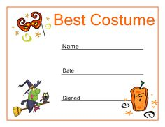 Certificate templates best halloween costume halloween costumes certificate templates best halloween costume halloween costumes template and costumes yadclub