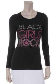 (Pink) (Regular) Rhinestone Scoop Neck Long Sleeve Shirt ecc64cb52