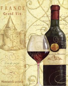 Wine Passion I by Daphne Brissonnet art print
