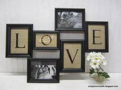 Turn Thrift Store Frames and Burlap Into Collage Wall Art