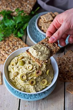 My Vegan Olive Hummus is a unique creation that gives a distinct sweet-bitter flavor to this versatile spread! Olive Hummus Recipe, Creamy Hummus Recipe, Vegan Lentil Burger, Vegan Hummus, Healthy Afternoon Snacks, Healthy Snacks, Vegetarian Recipes, Cooking Recipes, Healthy Recipes