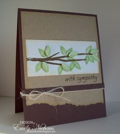Hi there! Today I am sharing a sympathy card I made using the branches4flowers  set from The Stamps Of Life . I stamped the branch in brown...