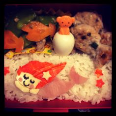 Sleeping mermaid kids bento