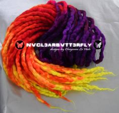 Wool Silk & Mohair Dreads UV Psychoholic 20DE