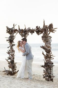 A destination wedding featuring a neutral color palette at the Sanderling Resort in Outer Banks, North Carolina by Mary Basnight Photography. Wedding Blog, Dream Wedding, Wedding Ideas, Wedding Decor, Rustic Wedding, Wedding Planning, Beach Wedding Favors, Destination Wedding, Small Beach Weddings