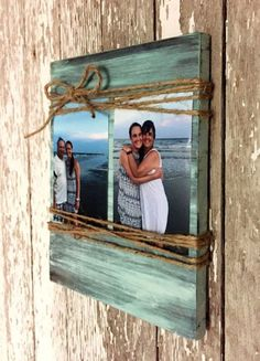 Custom Wood Picture Frame - crafts with pictures Picture Frame Crafts, Wooden Picture Frames, Picture On Wood, Photo Frame Ideas, Picture Frame Decorating Ideas, Hanging Picture Frames, Wood Photo, Wooden Frames, Cadre Photo Diy