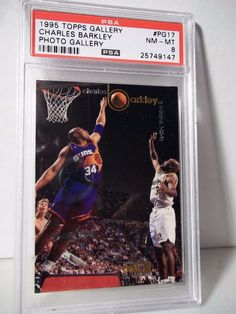 1995 Topps Gallery Charles Barkley PSA NM-MT 8 Basketball Card #PG17 NBA…