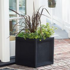 Have to have it. Belham Living Fiber Clay Caterina Square Planter - $99.99 @hayneedle