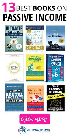Looking to build and diversify your income streams? Take a look at these 13 best PASSIVE INCOME books for incredible money tips and brilliant ideas to inspire Book Club Books, Book Lists, Reading Lists, Best Books To Read, Good Books, Affiliate Marketing, Entrepreneur Books, Self Development Books, Books For Self Improvement
