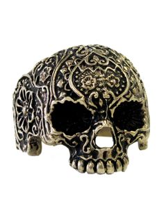 """""""Jawless Skull Flower"""" Ring by Lor G Jewellery"""