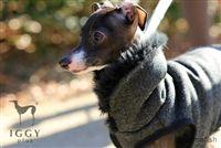 Wool and Herringbone Fur Vest / Gray in IGGYplus italian greyhound clothes