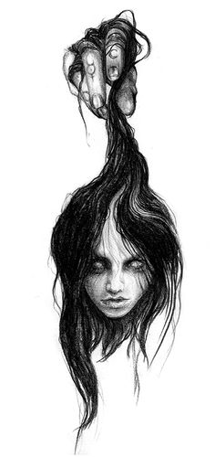 Abbey Watkins is a London based illustrator and print designer. She works mainly in graphite to render realistic drawings, often inspired by mythology. Sad Drawings, Gothic Drawings, Cool Art Drawings, Art Drawings Sketches, Arte Horror, Horror Art, Sad Artwork, Bipolar Art, Dibujos Dark