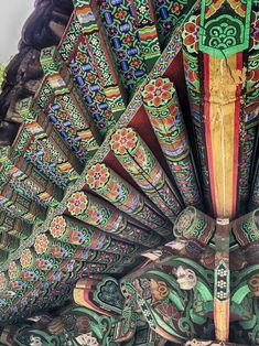 This Hand-Painted Underside Of A Temple Roof In Korea Jeju City, Legendary Pictures, Mini Library, Uses For Coffee Grounds, Jeju Island, Helium Balloons, Bored Panda, Four Seasons, Exotic