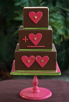 Heart Wedding Cake Idea: Adding Hearts