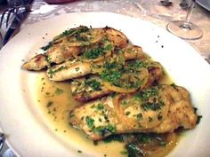 Tyler's Chicken Francese : Tyler's chicken Francese is sauteed lemon chicken, similar to veal piccata.