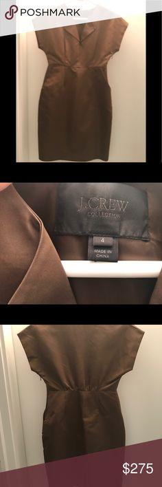 J crew collection dress Duchess satin j crew collection dress size 4. Side zip. Knee length j crew Dresses Midi