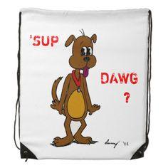 'SUP DAWG?' Doggy Backpack